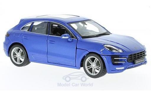 Porsche Macan 1/24 Bburago metallic-bleue miniature