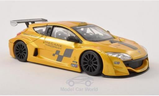 Renault Megane 1/24 Bburago Trophy métallisé jaune/Dekor miniature