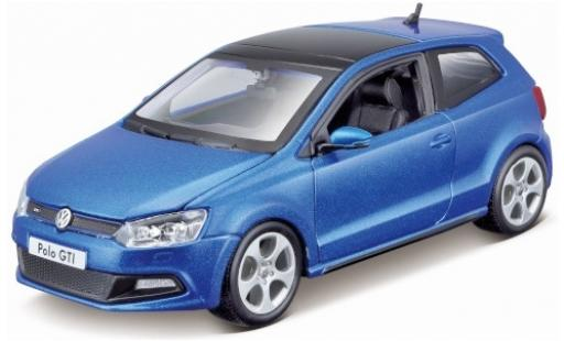 Volkswagen Polo 1/24 Bburago V GTI metallise blue diecast model cars