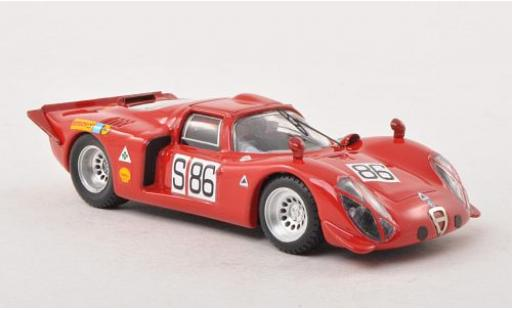 Alfa Romeo 33.2 1/43 Best Coupe No.86 Nürburgring 1969 miniature