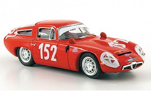 Alfa Romeo TZ1 1/43 Best TZ 1 No.152 Targa Florio 1970 coche miniatura