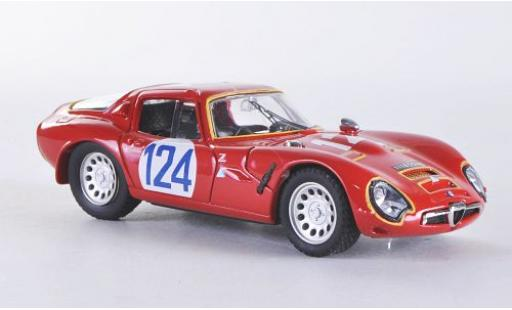 Alfa Romeo TZ2 1/43 Best TZ 2 No.124 Targa Florio 1967 coche miniatura
