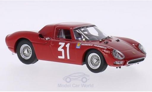 Ferrari 250 1/43 Best LM RHD No.31 Scuderia Filipinetti Coppa InterEuropa GP Monza 1964 N.Vaccarella miniature