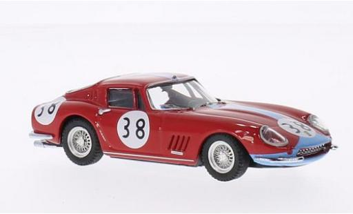 Ferrari 275 1/43 Best GTB/4 Coupe No.38 1000km Paris 1966 P.Vestey/C.Gaspar diecast model cars