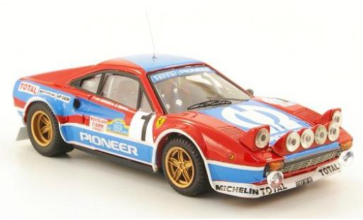 Ferrari 308 1/43 Best Gr.4 No.4 Pioneer Targa Florio 1982 J.C.Andreut/Biche coche miniatura