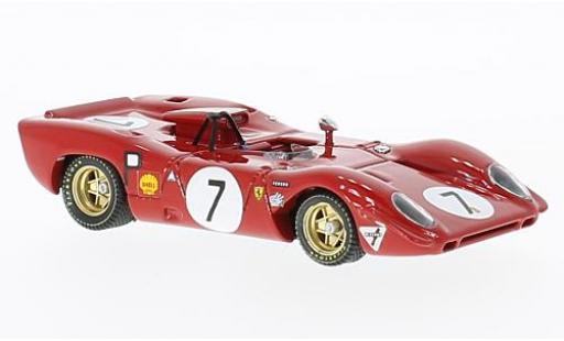 Ferrari 312 1/43 Best P Spyder No.7 1000 Km Nürburgring 1969 P.Rodriguez/C.Amon coche miniatura