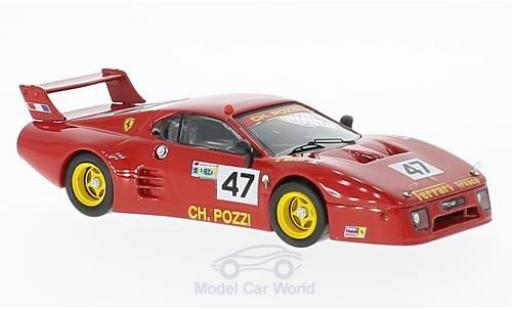 Ferrari 512 1/43 Best BB LM No.47 24h Le Mans 1981 J-C.Andruet/Ballot-Léna miniatura