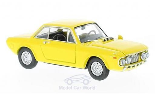 Lancia Fulvia HF 1/43 Best Coupe 1600 Fanalone jaune 1968 miniature