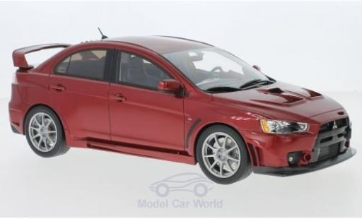 Mitsubishi Lancer Evolution X 1/18 BM Creations metallise rouge miniature