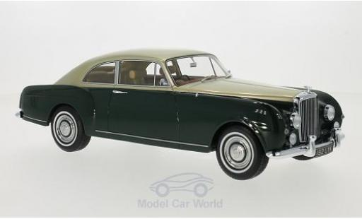 Bentley S1 1/18 BoS Models Continental Mulliner Sports Saloon verte/gold RHD 1956 miniature