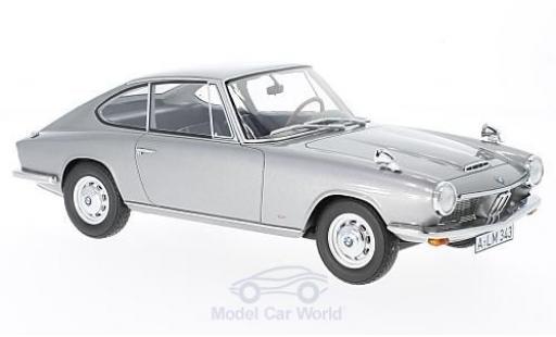 Bmw 1600 GT 1/18 BoS Models grigio 1968 modellino in miniatura