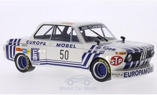 Bmw 2002 1/18 BoS Models Gr.2 No.50 GS Tuning Europa Möbel DRM 1974 J.Obermoser miniature
