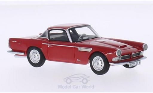 Bmw 3200 1/43 BoS Models Michelotti Vignale red 1959 diecast model cars