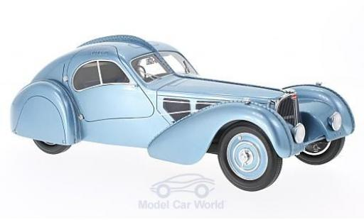 Bugatti 57 1/18 BoS Models T SC Atlantic metallise bleue RHD 1938 miniature