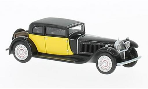 Bugatti 41 1/87 BoS Models Type Royale by Weymann noire/jaune RHD 1929 miniature