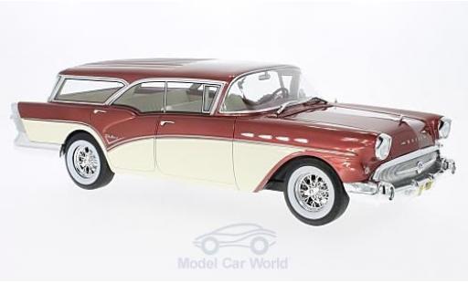 Buick Century 1/18 BoS Models Caballero Estate metallise rouge/beige 1957 ohne Vitrine miniature
