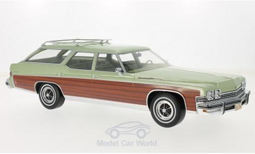 Buick Estate 1/18 BoS Models Wagon metallise verte/Holzoptik 1974 miniature