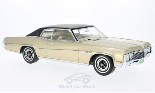 Buick Le Sabre 1/18 BoS Models LeSabre Custom Sport Coupe métallisé beige/noire 1970 miniature