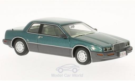 Buick Riviera 1/43 BoS Models 88 turquoise/grise 1988 miniature