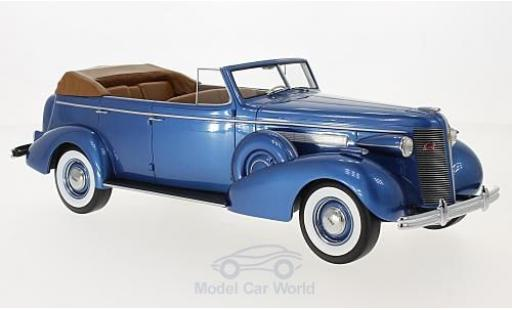 Buick Roadmaster 1/18 BoS Models 80-C Four-Door Phaeton metallise blue 1937 diecast model cars