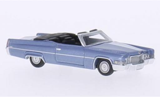 Cadillac Deville 1/87 BoS Models DeVille Convertible metallise bleue 1970 miniature