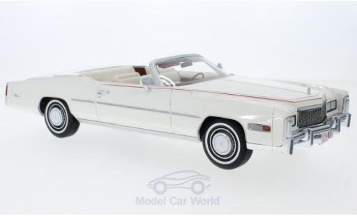 Cadillac Eldorado 1/18 BoS Models Convertible Bicentennial blanche 1976 miniature