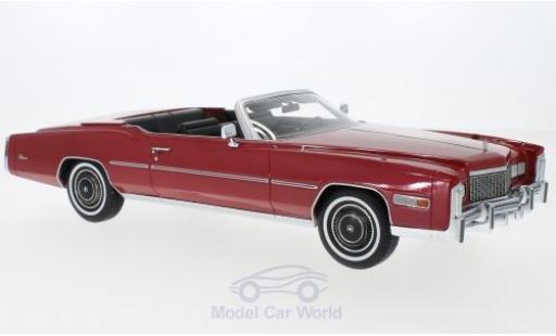 Cadillac Eldorado 1/18 BoS Models Convertible metallise rouge 1976 miniature