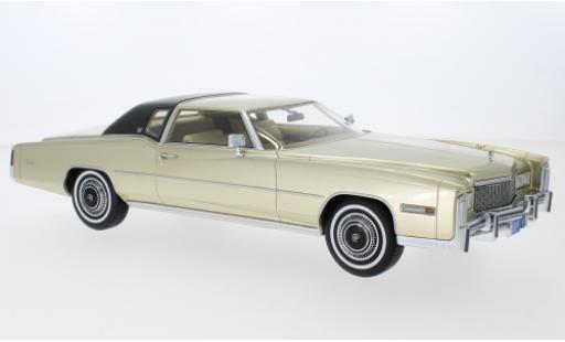 Cadillac Eldorado 1/18 BoS Models Coupe gold/matt-noire 1976 miniature