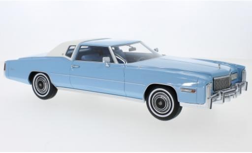 Cadillac Eldorado 1/18 BoS Models metallise bleue/blanche 1976 miniature