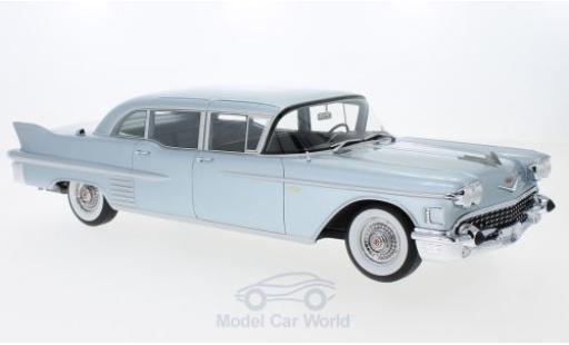 Cadillac Fleetwood 1/18 BoS Models 75 Limousine metallise bleue 1958 miniature