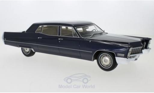 Cadillac Fleetwood 1/18 BoS Models Series 75 Limousine metallise blue 1967 diecast model cars