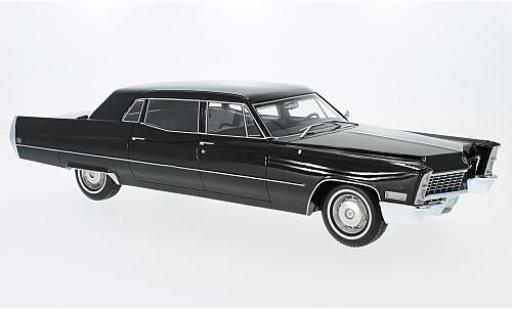 Cadillac Fleetwood 1/18 BoS Models Series 75 noire 1967 miniature