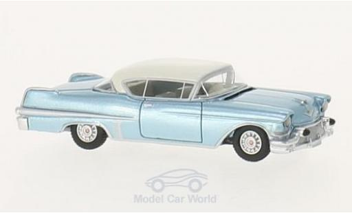 Cadillac Series 62 1/87 BoS Models Hardtop Coupe metallise blue/beige 1957 diecast model cars