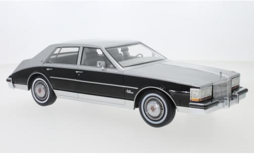 Cadillac Seville 1/18 BoS Models metallise grise/noire 1980 miniature