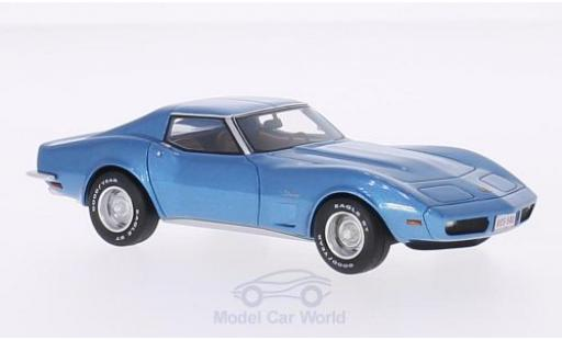Chevrolet Corvette C3 1/43 BoS Models  metallise bleue 1973 miniature