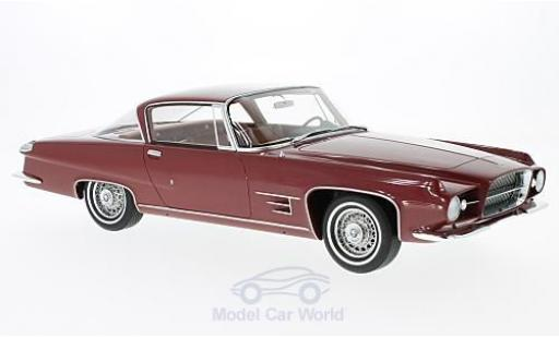 Chrysler Dual Ghia 1/18 BoS Models L 6.4 Coupe metallise rouge 1960 ohne Vitrine miniature