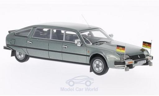 Citroen CX 1/43 BoS Models Nilsson metallise grigio 1985 DDR-Staatslimousine mit Standarten modellino in miniatura