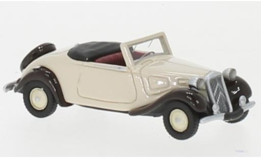 Citroen Traction 1/87 BoS Models Avant Cabriolet beige/marron 1936 miniature