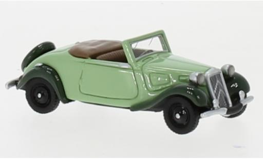 Citroen Traction 1/87 BoS Models Avant Cabriolet green/green 1936 diecast model cars