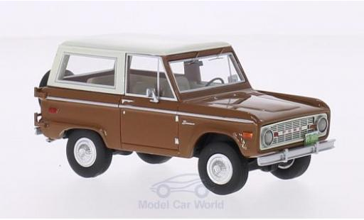 Ford Bronco 1/43 BoS Models marron/blanche 1970 miniature