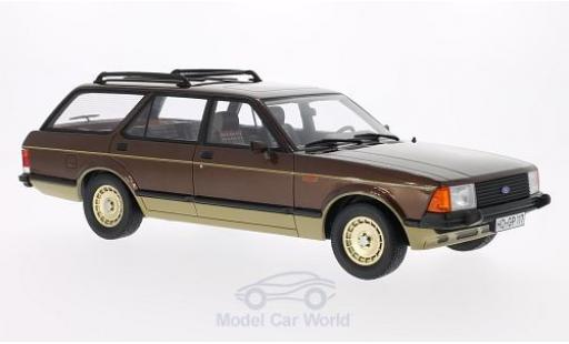 Ford Granada 1/18 BoS Models MKII Turnier métallisé marron/gold 1980 miniature
