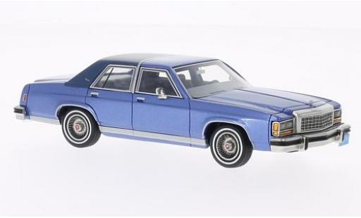 Ford LTD 1/43 BoS Models Crown Victoria metallise blue/matt-blue 1987 limitée edition diecast model cars