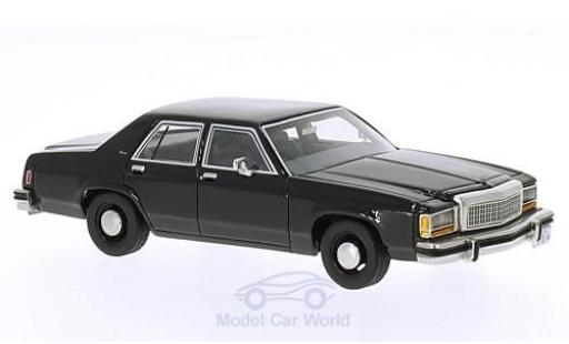 Ford LTD 1/43 BoS Models Crown Victoria noire 1987 miniature
