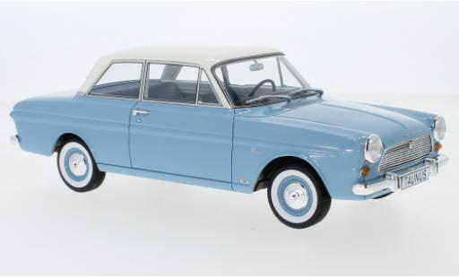 Ford Taunus 1/18 BoS Models 12M (P4) Limousine bleue/blanche 1965 miniature