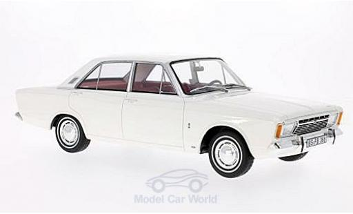 Ford Taunus 1/18 BoS Models 17M (P7a) white 1967 diecast model cars