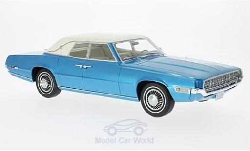 Ford Thunderbird 1/18 BoS Models Landau metallise bleue/blanche 1968 miniature