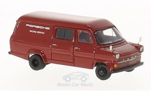 Ford Transit 1/87 BoS Models Mk. I rouge Porsche Racing Service 1965 miniature