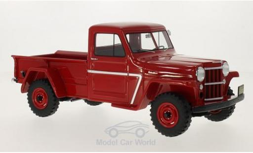Jeep Willys 1/18 BoS Models Pick Up rouge 1954 miniature