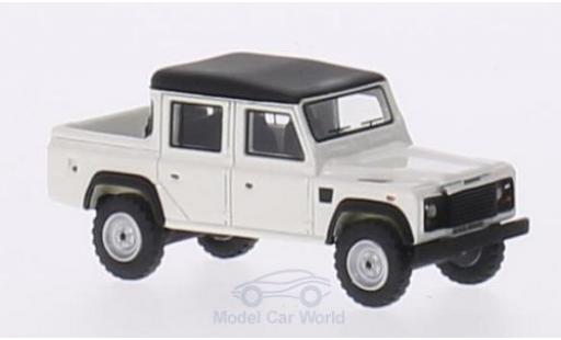 Land Rover Defender 1/87 BoS Models 110 Double Cab Pickup blanche/matt-noire RHD 1990 miniature