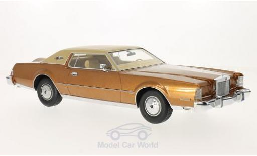 Lincoln Continental 1/18 BoS Models Mark IV Luxus métallisé marron/matt-beige 1974 miniature